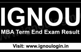 IGNOU MBA Result