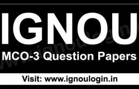 IGNOU MCO-3 Previous Question Papers